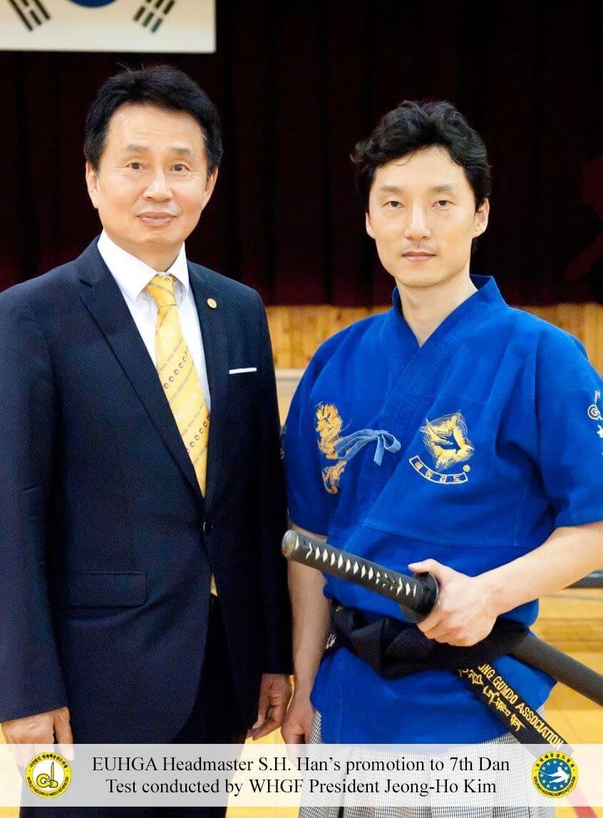 Presidente Kim Jeong Ho Maestro Han